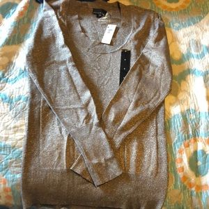 NWT sparkle gold sweater